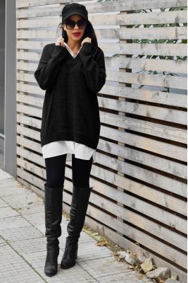 Twinity Рокля - Пуловер Black