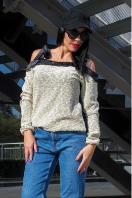 Twinity Пуловер със Златни Нишки